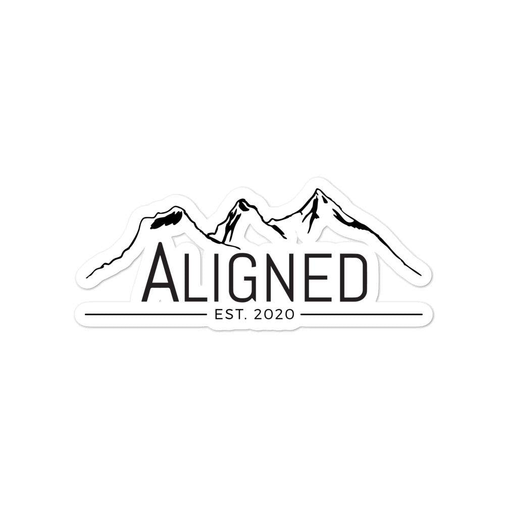 Aligned Logo Sticker - Aligned Apparel