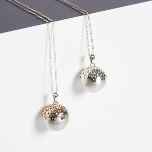 blossom sterling silver Mexican bola pregnancy necklace