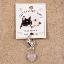 Load image into Gallery viewer, pet crystal for collar rose quartz