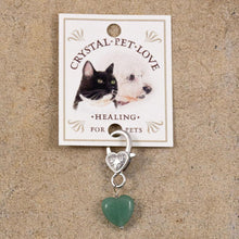 Load image into Gallery viewer, pet crystal for collar green aventurine