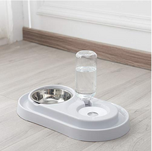 Load image into Gallery viewer, stainless steel pet bow water dispenser 2-in-1