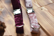 Load image into Gallery viewer, Collar - Pink or Purple Luxe Velvet Velour Collar