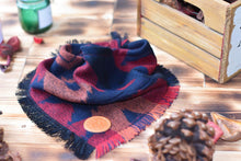 Load image into Gallery viewer, Bandana - Machu Picchu - Aztec Red & Black Bohemian Woven Tribal Southwest Frayed Tie On Fall Scarf