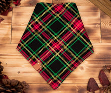 Load image into Gallery viewer, Bandana - Holly Jolly - Christmas Cream Red & Green Winter Festive Tie On Handcrafted Scarf