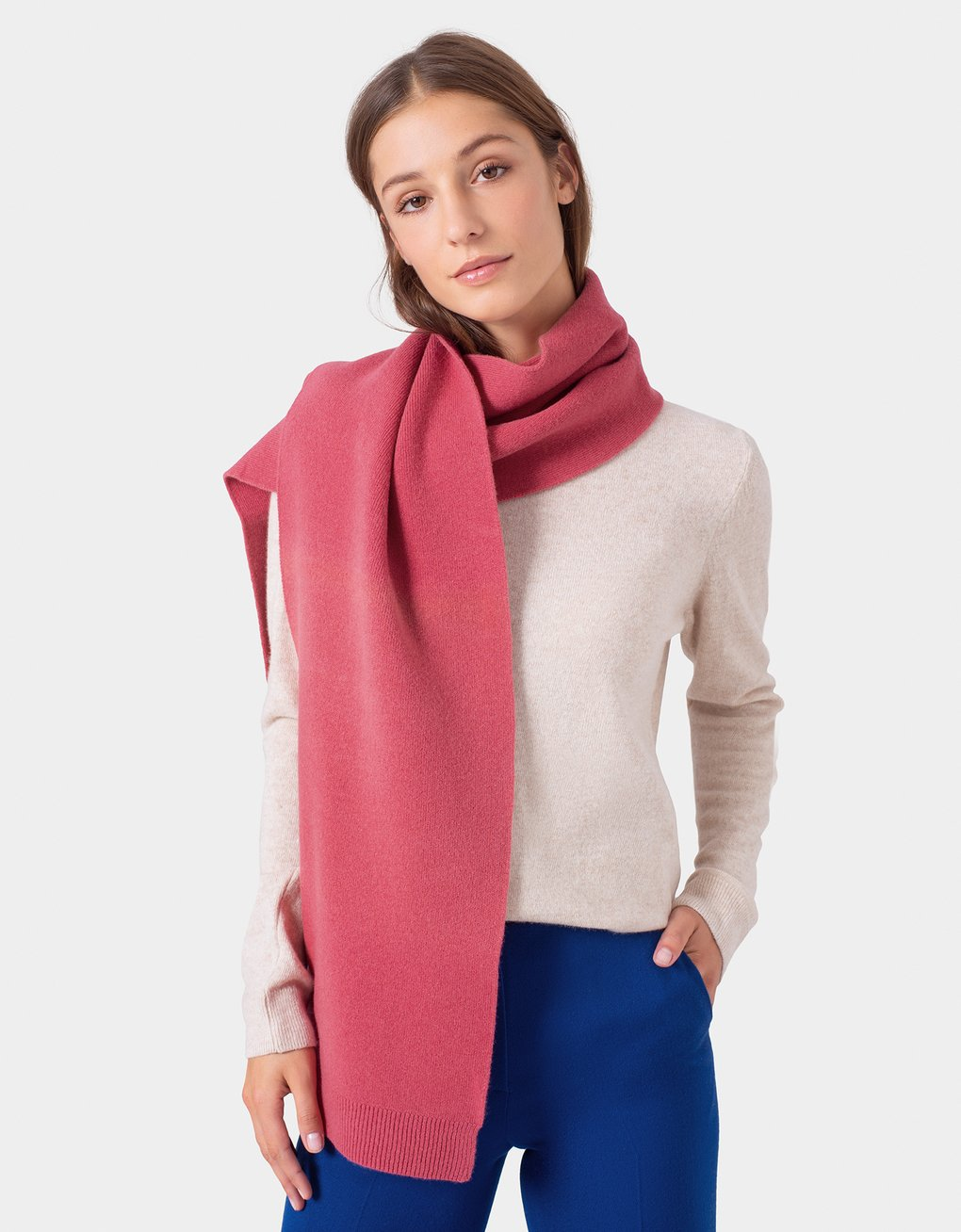 Colorful Standard -  Merino Wool Scarf Lava Grey