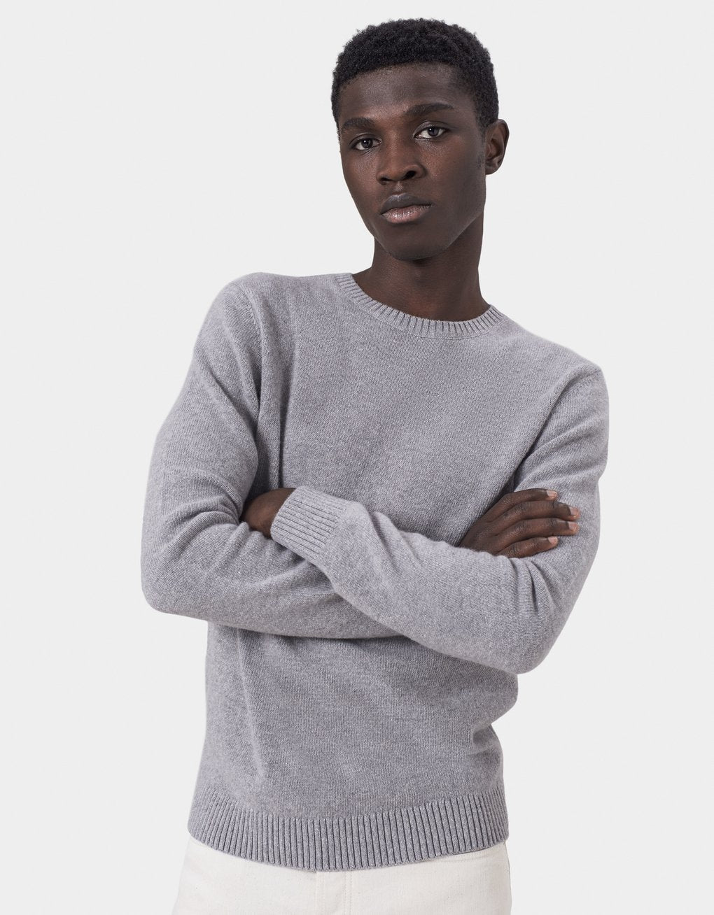 Colorful Standard -  Classic Merino Wool Crew Heather Grey