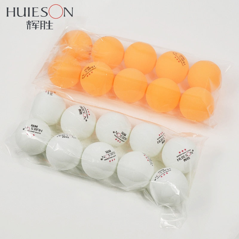 HUIESON 10pcs/Bag 3 Star Professional Table Tennis Balls