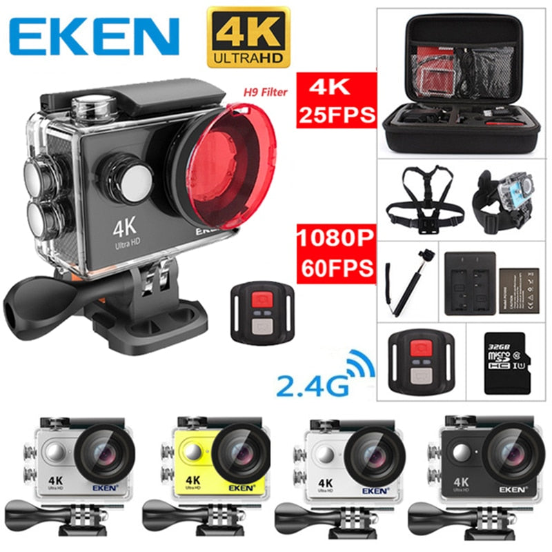 Original EKEN H9 H9R Ultra HD 4K 25fps Action Camera
