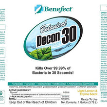 Load image into Gallery viewer, BENEFECT Botanical Decon 30 Disinfectant Cleaner - 20476 - 1 Gallon