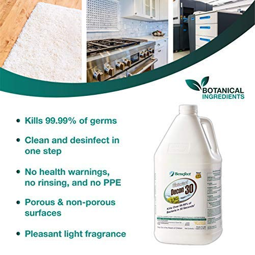 BENEFECT Botanical Decon 30 Disinfectant Cleaner - 20476-1 Gallon (Pack of 4)