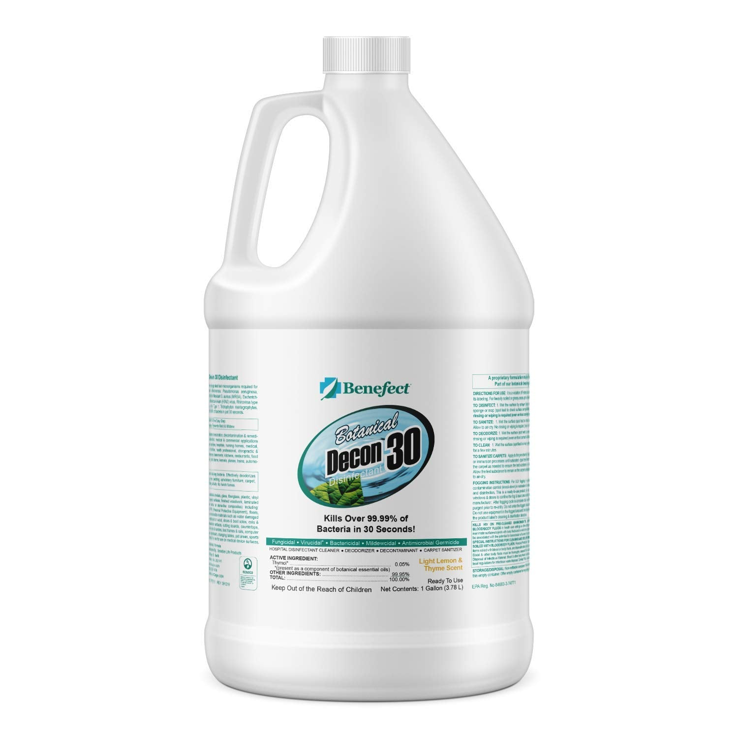 BENEFECT Botanical Decon 30 Disinfectant Cleaner - 20476 - 1 Gallon