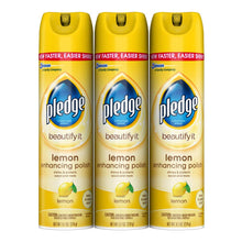 Load image into Gallery viewer, Pledge Multi-Surface Furniture Polish Spray, Works on Wood, Granite, and Leather, Shines and Protects, Lemon, 9.7 oz - Pack of 3