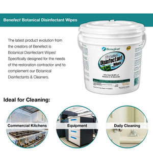 BENEFECT Botanical Disinfecting Wipes - Natural, No Residue - Antibacterial Disinfectant, Multi-Surface Cleaning and Sanitizing Wipes (250 Wipe Count)