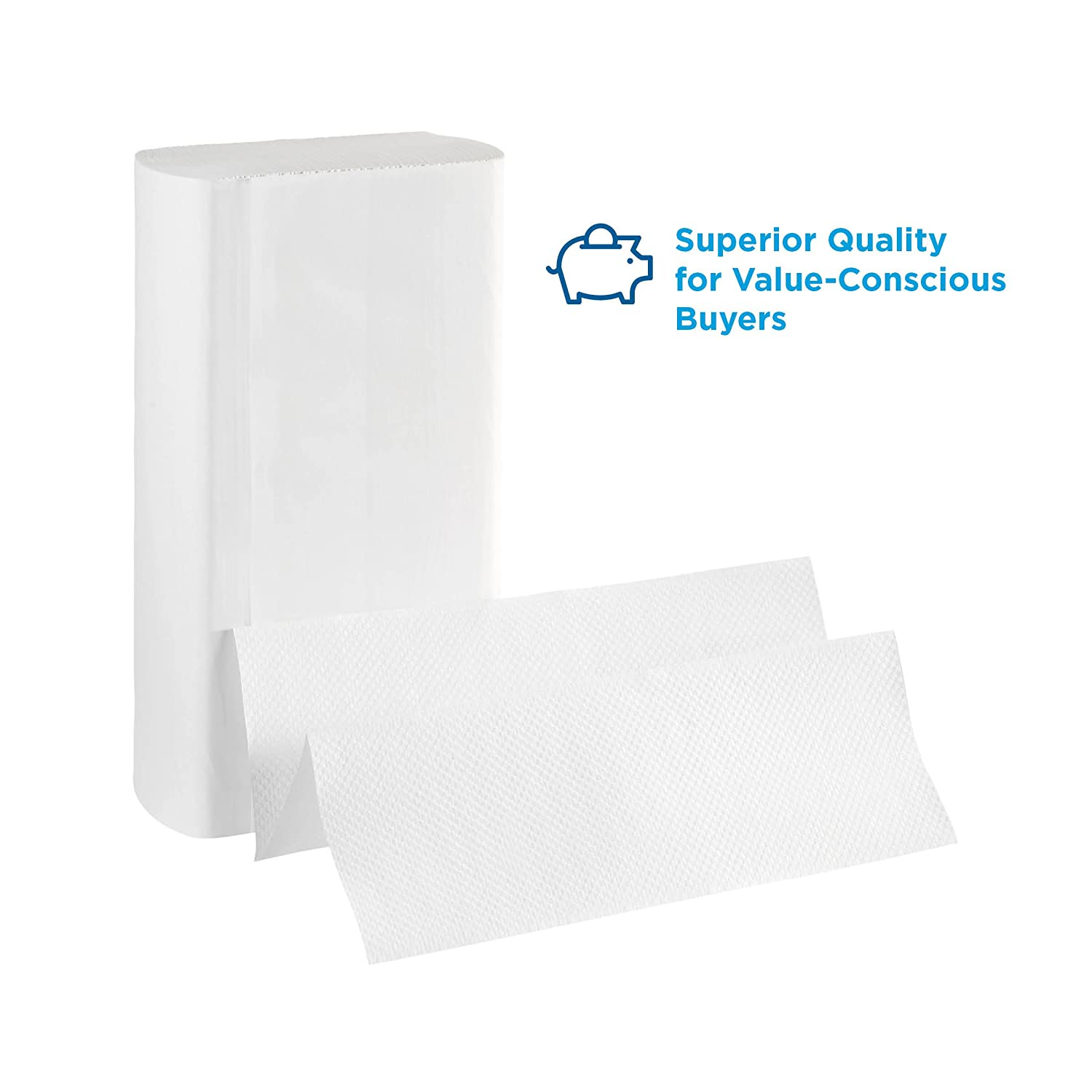 "Pacific Blue Basic Recycled Multifold Paper Towels (Previously branded Envision) by GP PRO (Georgia-Pacific), White, 24590, 250 Towels Per Pack, 16 Packs Per Case (4000 Total), 9.20"" x 9.40"" 24590 - 16 Packs/Case White"