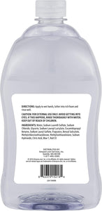 Solimo Gentle & Mild Clear Liquid Hand Soap Refill, Triclosan-free, 56 Fluid Ounces, ack of 1