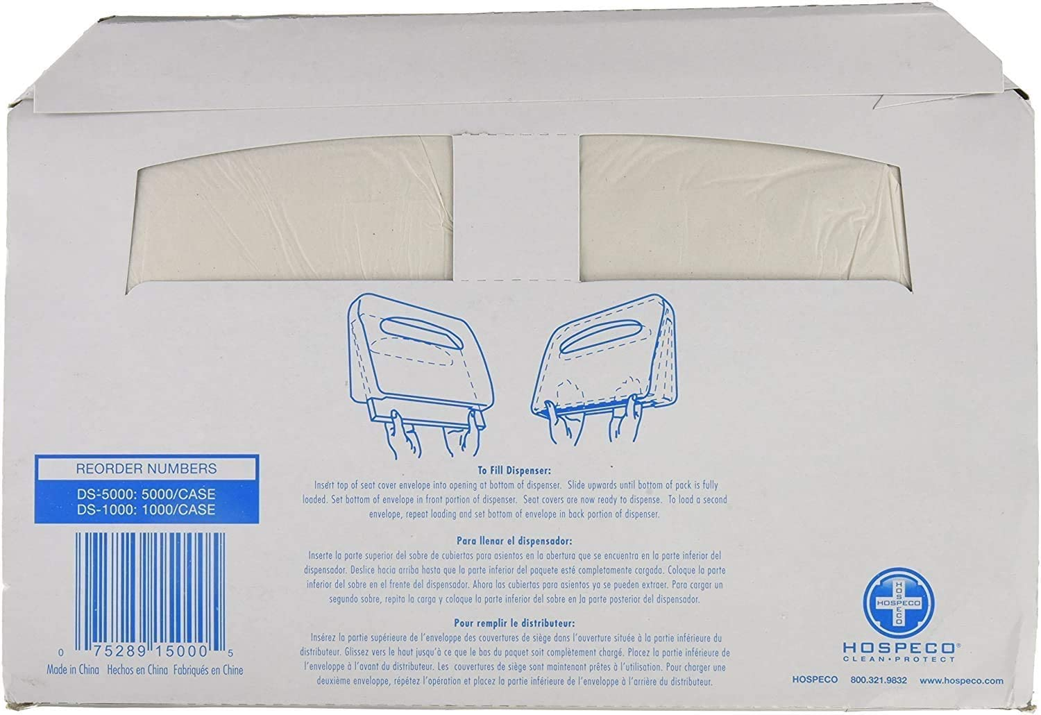 Discreet Seat DS-1000 Half-Fold Toilet Seat Covers, White (4 Pack of 250) Near White 1 case (1000 covers)
