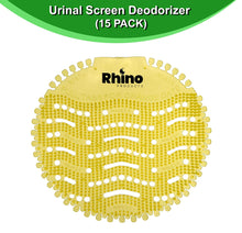 Load image into Gallery viewer, Rhino Products Urinal Screens Deodorizer - 15 Pack - Anti-Splash Urinal Screen