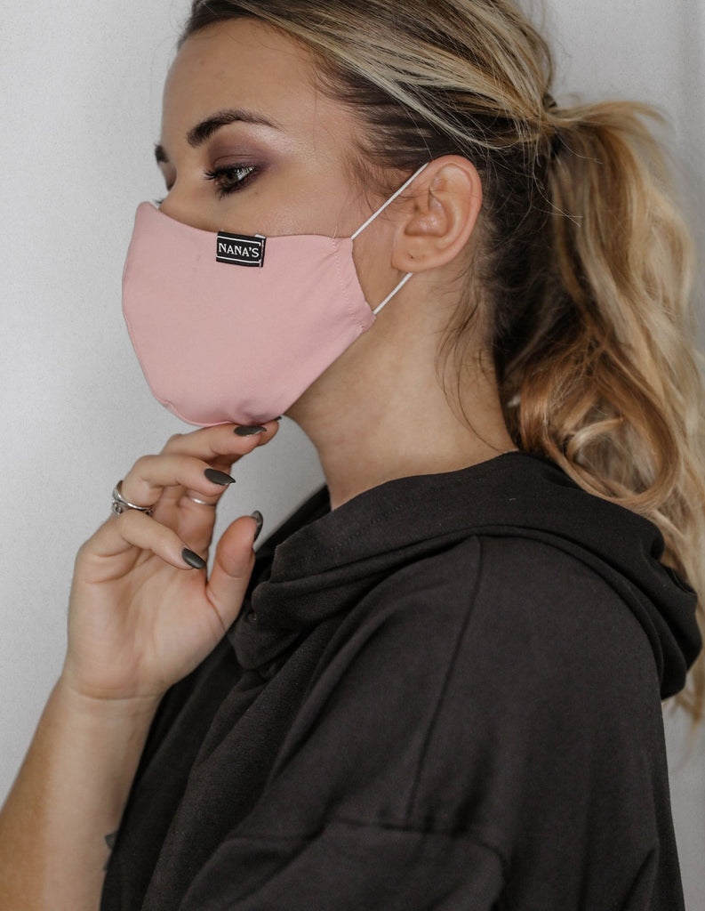Mask - peach pink recycled