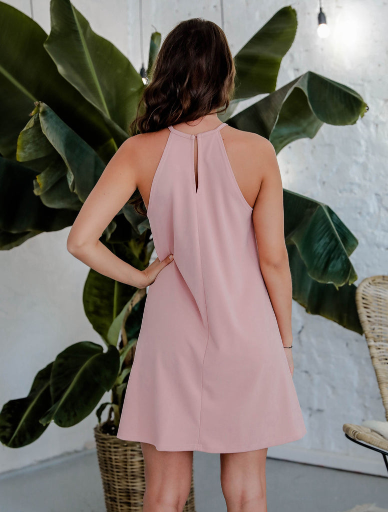 Nora Dress Mauve Pink