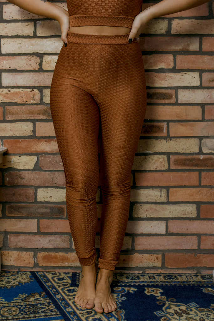 Leggings - brick colour