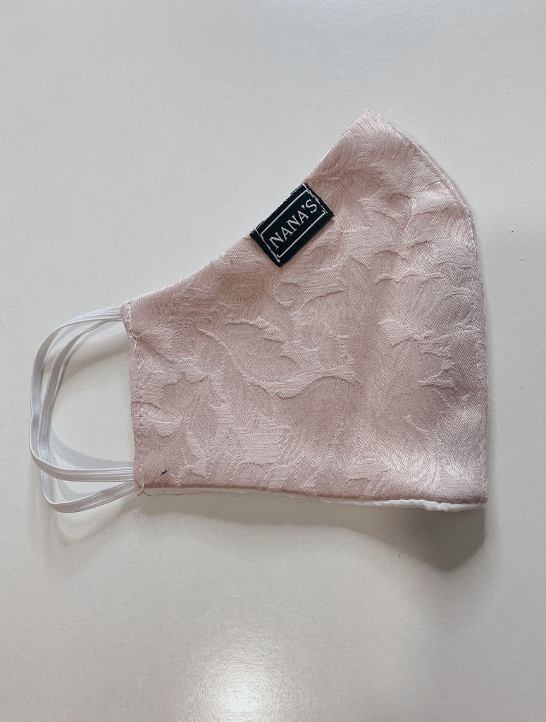 Light Pink Printed Mask