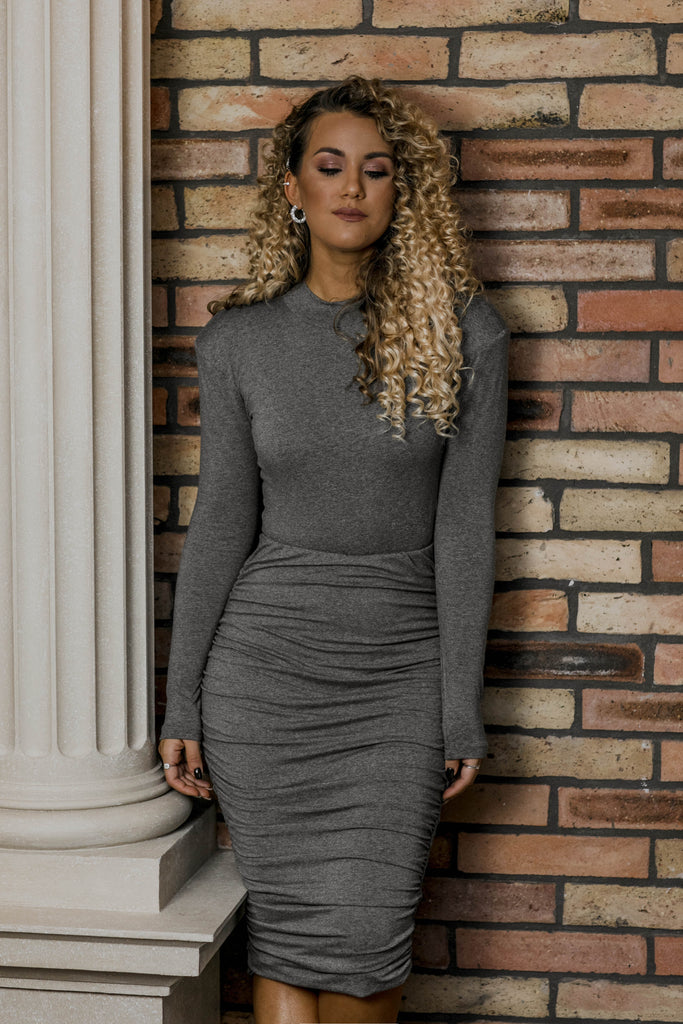 Janni pulled skirt - grey