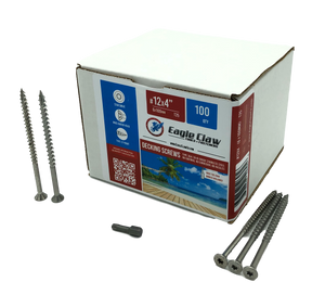 "#12×4"" Stainless steel screws - 100 QTY"