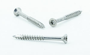 "#10 × 2"" 304 Grade Stainless Steel Wood Screws"