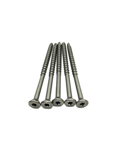 "#12 × 4"" 304 Grade Stainless Steel Wood Screws"