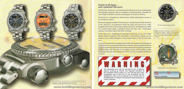 Montre Emergency 1995