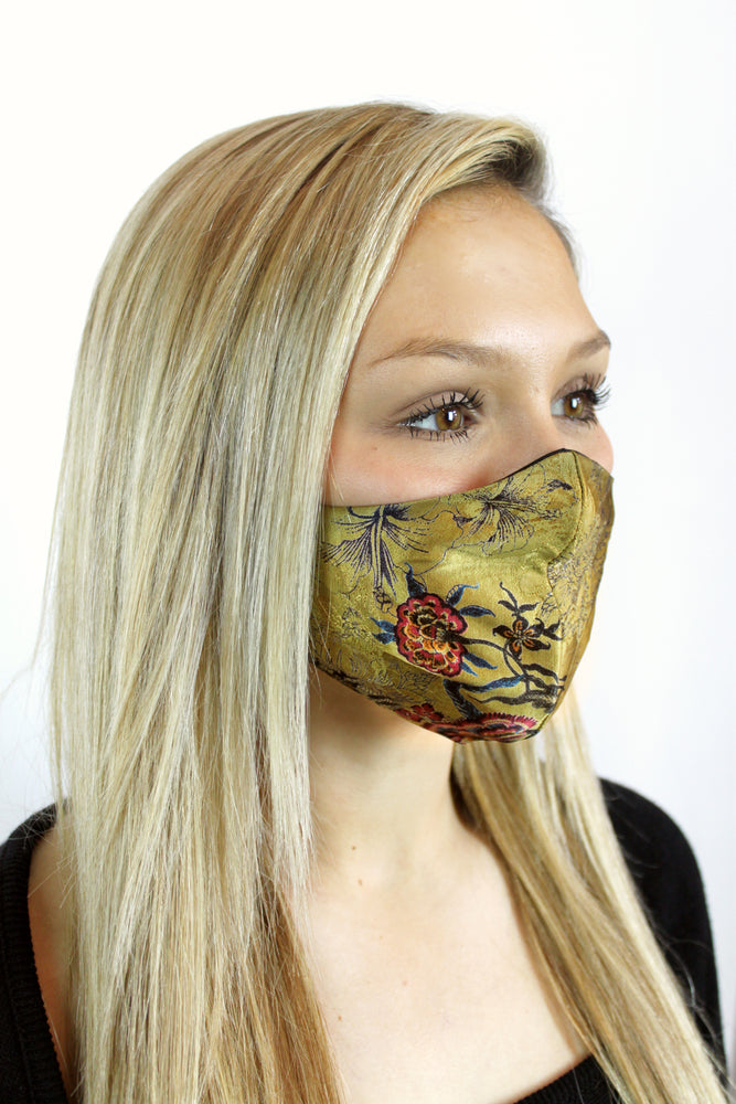 Load image into Gallery viewer, Limited Edition 'Émilie' Vegan-Friendly Italian Jacquard Printed Reusable Fashion Mask (VON SORELLA x March for Science Collection)