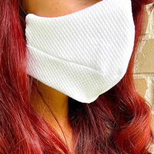 Load image into Gallery viewer, 100% Italian Textured Cotton Fashion Mask (Non-Medical)