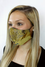 Limited Edition 'Émilie' Vegan-Friendly Italian Jacquard Printed Reusable Fashion Mask (VON SORELLA x March for Science Collection)