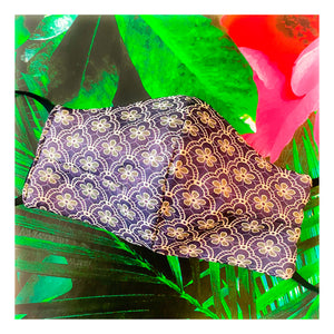 'Amelia' Purple Italian Jacquard Fashion Mask (Non-Medical)