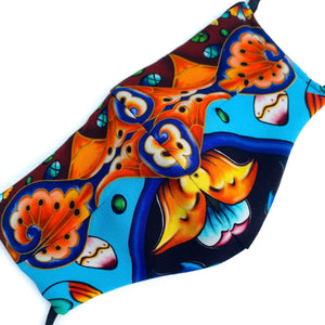 Load image into Gallery viewer, 'Koi' Pattern Italian Textile Fashion Mask (Non-Medical Grade)