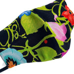 'Roselyn' Bright Floral Italian Textile Fashion Mask (Non-Medical Grade)