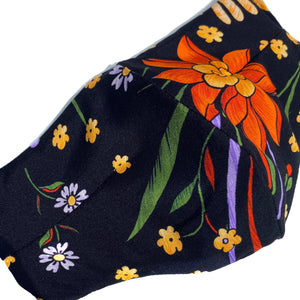 'Suzanna' Floral Italian Textile Fashion Mask (Non-Medical Grade)