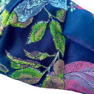 Load image into Gallery viewer, 'Victoria' Floral Italian Brocade Fashion Mask (Non-Medical Grade)