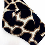 'Zabella' Giraffe Print Italian Cotton Fashion Mask (Non-Medical Grade)