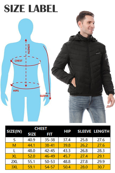 Size Guide: Find the Heated Clothing Fits You