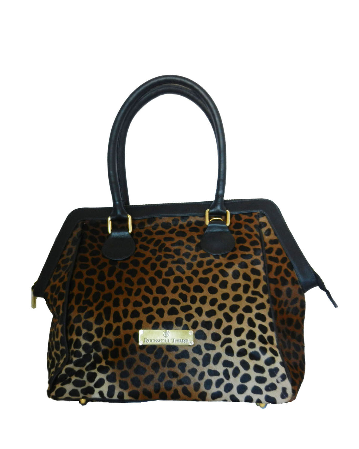 Safari Cheetah Calf Hair w/Black Trim