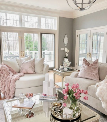 glam living room, glam home, high fashion, cozy home, z gallerie