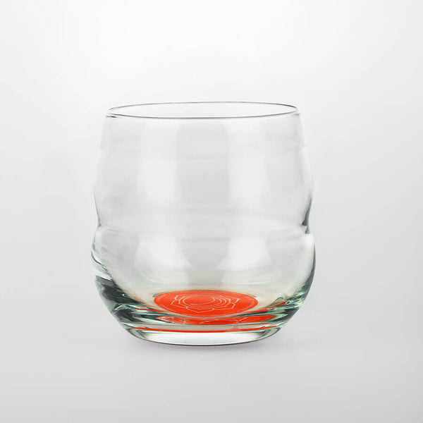 Nature´s-Design-Trinkbecher-Mythos-250ml-Borosilikatglas-Chakra-Sakral-Orange-im-Boden