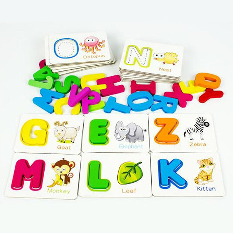 Alphabet Recognition Card Puzzle