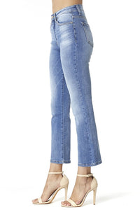 High Rise Crop Straight Jeans