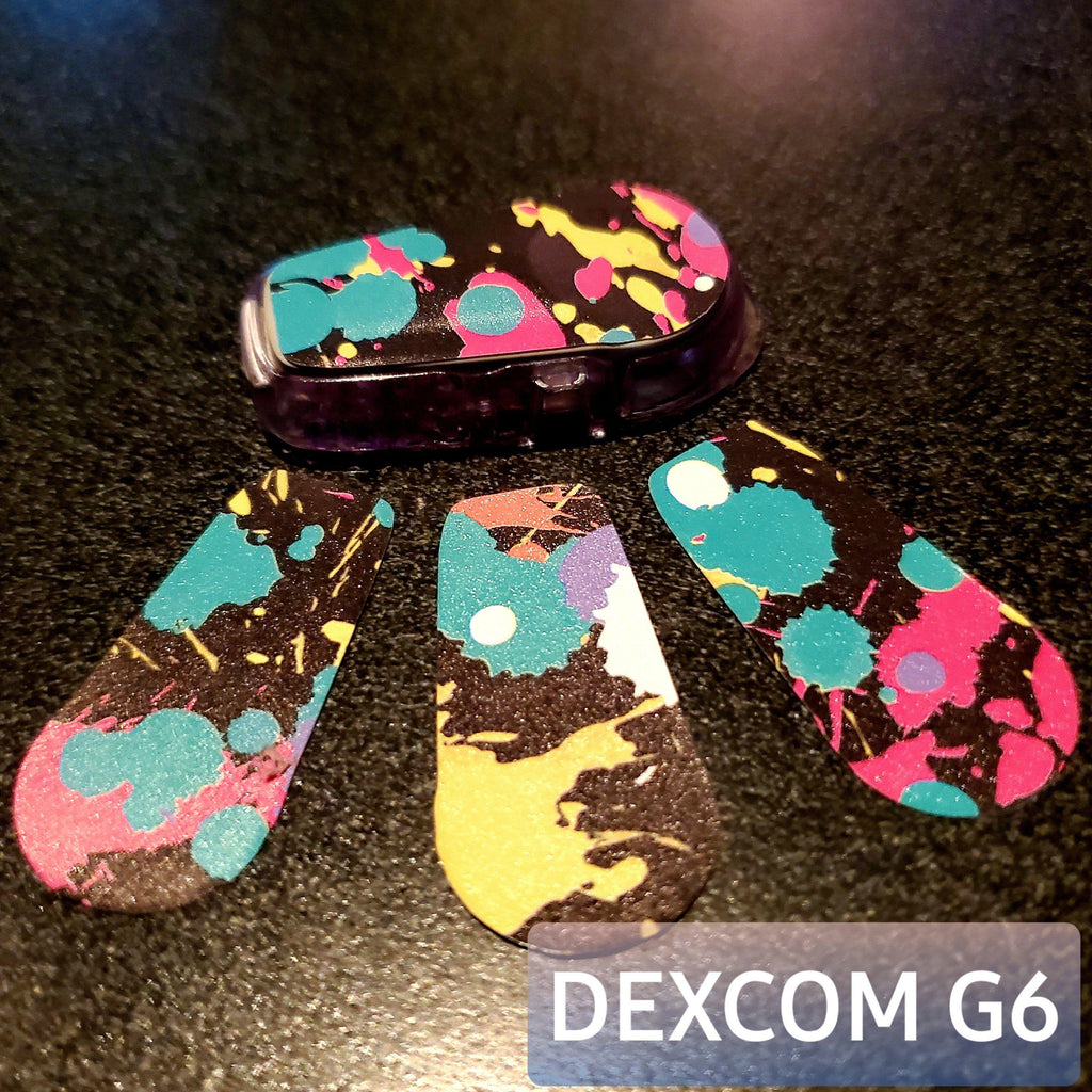Dexcom G6 Decals : Reusable Waterproof 90's Throwback : Adhesive Stickers