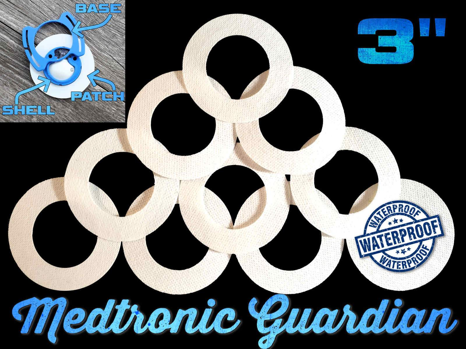 "Medtronic Guardian 3"" Inch Overlay Adhesive Patches - White"