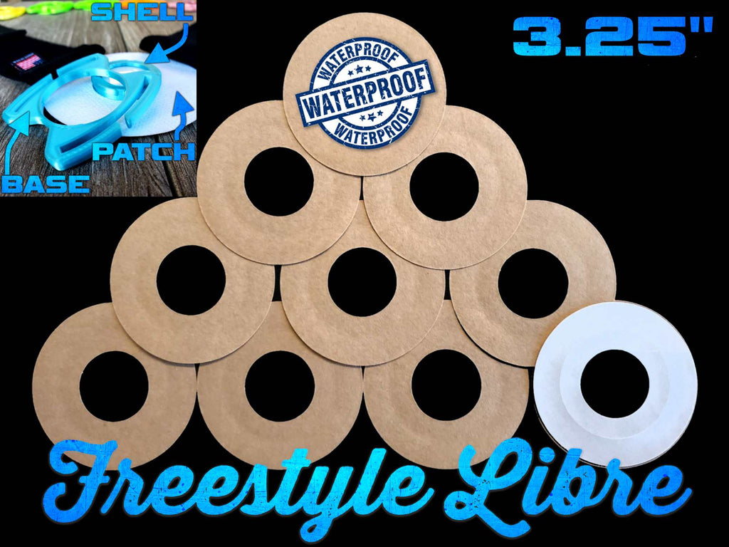 "Freestyle Libre 3.25"" Inch Shell Back Series Overlay Adhesive Patches"