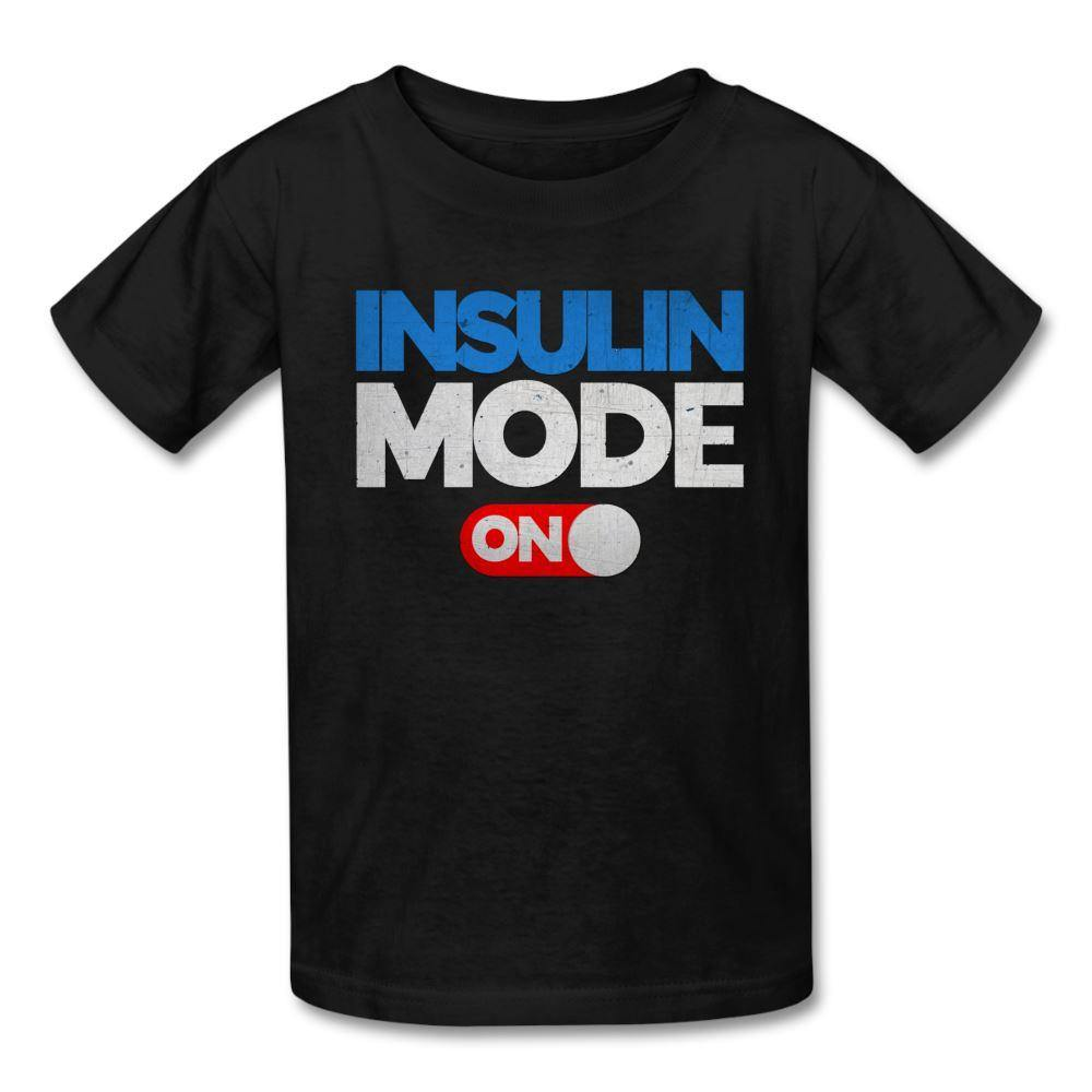 Insulin Mode On Tagless Kids & Youth T-Shirt - black