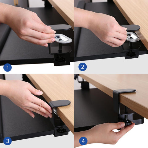 Image of Flexispot Clamp-on Adjustable Keyboard Tray KT2B